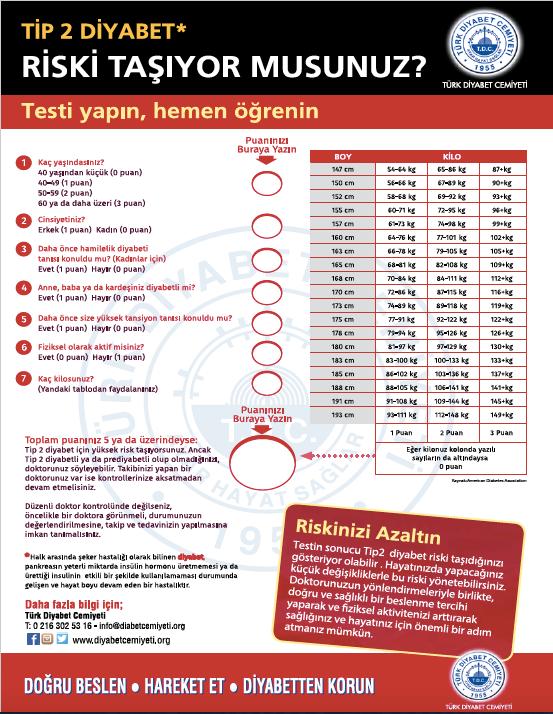 Diyabet Risk Testi